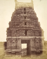 Entrance gopura of the Malavanti Raghunatha Temple, Vijayanagara 1379